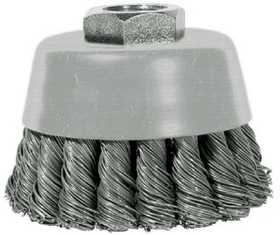 Century Drill & Tool 76062 Cup Brush Knot 6x5/8-11