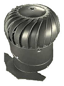 Air Vent Ventilation 52608 Wind Turbin 12 in Internally Braced With Base Weatherwood