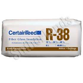 Certainteed 900135 R38 in ulation Kraft-Faced Batts 12x24x48