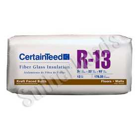 Certainteed 910355 R13 Kraft-Faced Batts 31/2x23