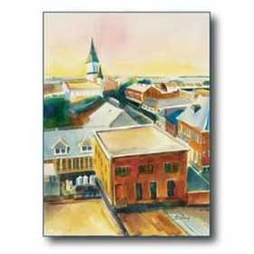Debra Sutherland 22 in x 28 in Old Town Morning Watercolor Print
