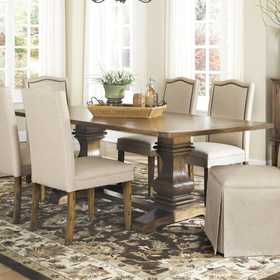 Coaster 103711 Parkins Dining Table With Shaped Double Pedestals