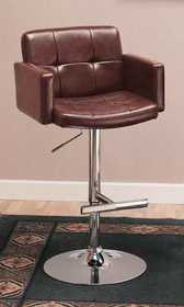 Coaster 120348 29 in Upholstered Bar Chair With Adjustable Height