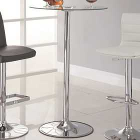 Coaster 122400 Transitioning Led Bar Table With Chrome Base