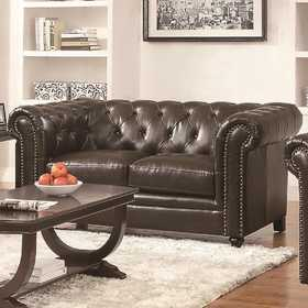 Coaster 504552 Roy Traditional Button-Tufted Love Seat