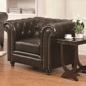 Coaster 504553 Roy Traditional Button-Tufted Chair