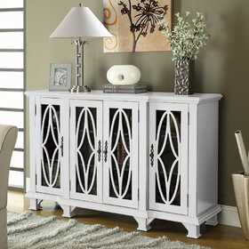 Coaster 950265 Large White Cabinet With 4 Glass Doors