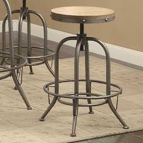 Coaster 122098 Transitional Adjustable Bar Stool
