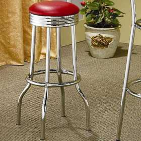 Coaster 2299R Cleveland Chrome Plated Soda Fountain Bar Stool