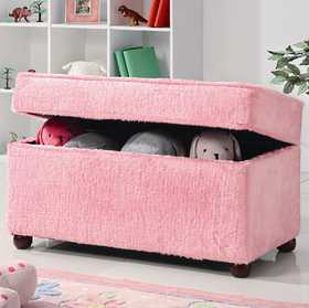 Coaster 460451 Pink Upholstered Storage Bench