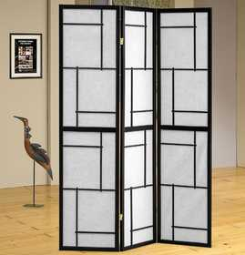 Coaster 900102 Three Panel Folding Floor Screen