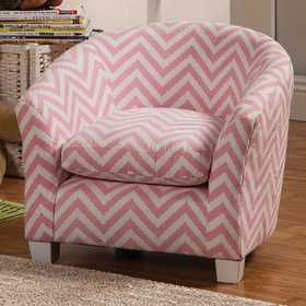 Coaster 405022 Pink Zigzag Kid's Chair