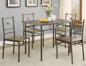 Coaster 100033 5 Piece Dining Set