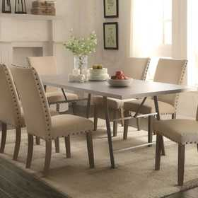 Coaster 105581 Amherst Gunmetal Top Casual Dining Table