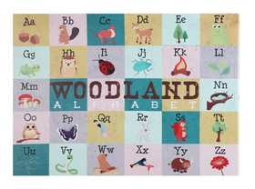 Coaster 960803 Woodland Alphabet Tables Wall Art
