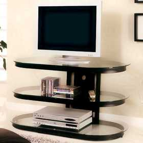 Coaster 700611 Contemporary Metal And Glass Media Console