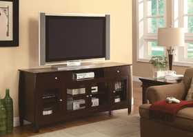 Coaster 700693 Connect-It Dark Walnut Tv Console