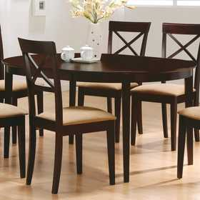 Coaster 100770 Oval Dining Leg Table