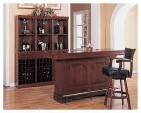 Coaster 3078 Bar Unit Cherry Finish