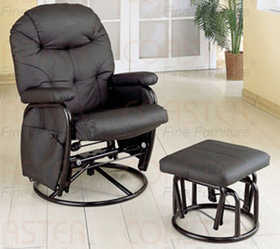 Coaster 7291 Deluxe Swivel Glider With Matching Ottoman