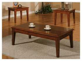 Coaster 700005 Occasional Tables-3pc Cherry Finish