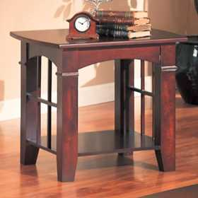 Coaster 700007 Abernathy End Table With Shelf