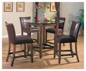 Coaster 100388 Bar Stool 29 in Brown Leather