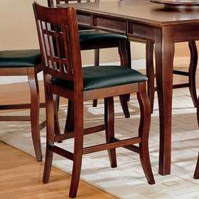 Coaster 100509 Newhouse 24 in Bar Stool With Grid Back And Faux Leather Seat