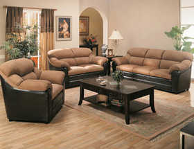 Coaster MK501881 3 Pc Sofa, Loveseat & Chair