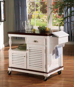 Coaster 910013 Cherry Topped Kitchen Cart