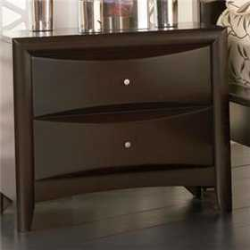 Coaster 200412 Phoenix 2 Drawer Nightstand