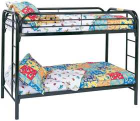 Coaster 2256K Fordham Twin Over Twin Bunk Bed With Built-In Ladders