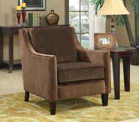 Coaster 902043 Accent Seating Accent Chair W/Basket-Weave Microvelvet