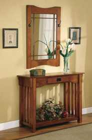 Coaster 950060 Mission Style Accent Table & Framed Mirror Set