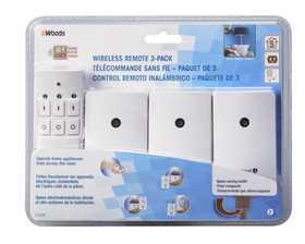 Woods 13569 Remote Wireless Indoor W/3 Outlet