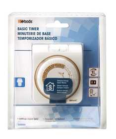 Woods 50000 Mechanical Timer Indoor 24hr