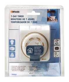 Woods 50002 Mechanical Timer 7day Indoor
