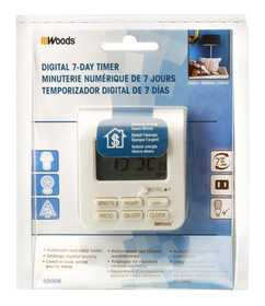 Woods 50008 Timer Digital Weekly Indoor 2c