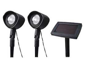 Coleman Cable 93382 Spotlights With Remote Solar Panel 2pack