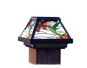 Coleman Cable 91187 Hummingbird Stained Glass Postcap