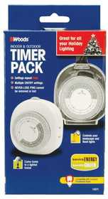 Woods 13573FD Indoor /Outdoor Timer Combo Pack