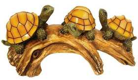 Moonrays 91515 Turtles On A Log Garden Accent