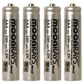Moonrays 97126 Solar Batteries Aaa 4pk