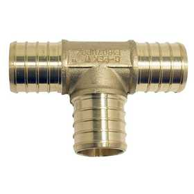 Apollo/PEX APXT345PK Brass Pex Tee - 3/4 in Barb. 5 Pack.