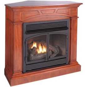 Procom FBD400RTCC-M-HC 45 in Convertible Vent-Free Dual Fuel Gas Fireplace In Heritage Cherry With Remote