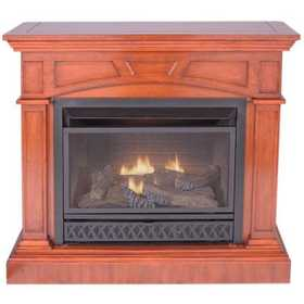 Procom FBD28TCC-M-HC 44 in Convertible Vent-Free Propane Gas Fireplace In Heritage Cherry