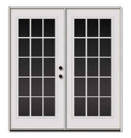 Sutherlands 6/0X6/8 LH 6/0 15-Lite Double Swinging Steel Patio Door RH
