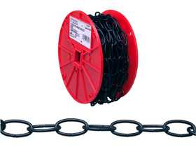 Apex Tool Group 0722002 Decorator Chain On Reel, Black Polycoated, #10 Trade, 0.135 in Diameter, 40 ft Length, 35 Lbs Load Capacity