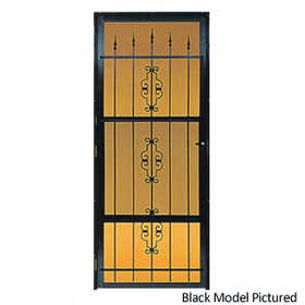 Croft 562-36X80 Decorative Storm Door Black Rh