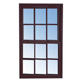 Croft 96-2030 Single Hung Window Insulated Tilt Bronze Frame 4/4 Grid 2/0 x